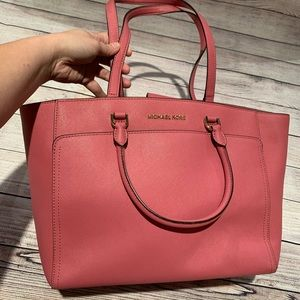 Michael Kors Pink Tote Purse